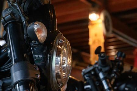Bangkok, Thailand - Dec 27 2018 : Close-up Ducati black triumph of shine of the motorbike parts 写真素材