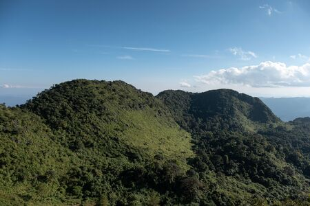 Landscape of mountain range in wildlife sanctuary at Doi Luang Chiang Dao national park