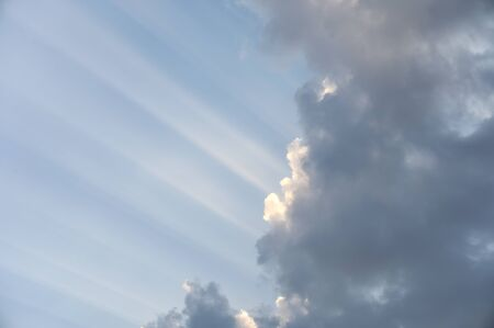 Sunlight shining in cloud on blue sky background Reklamní fotografie