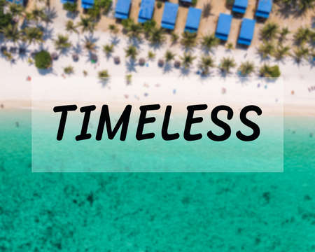 Timeless message, Above of tropical sea and the beach in Lipe island