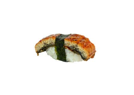 Unagi smoked sushi nigiri japanese cuisine. isolated on white background Reklamní fotografie