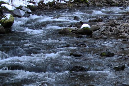 mount hood: Mountain Stream in Mount Hood National Forest Stock Photo