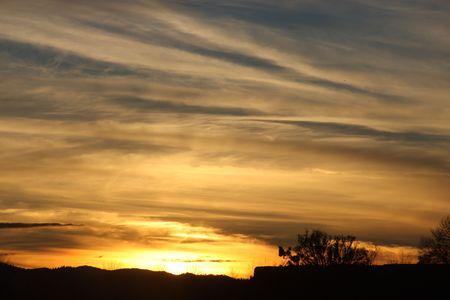 Oregon Sunset Stock Photo