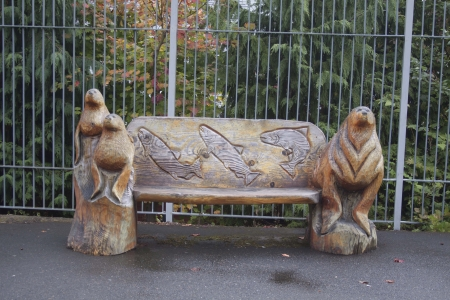Zoo Bench Stock fotó