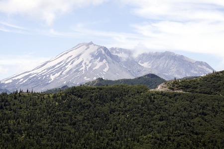 Mount Saint Helens Crater.  Photo taken in Mount Saint Helens National Volcanic Monument, Washington. photo