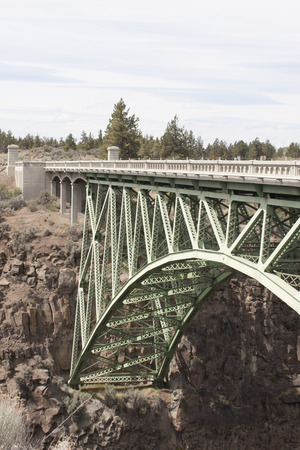 Crooked River Gorge High Brigde Viewpoint, Highway 97 Oregon. Stock Photo
