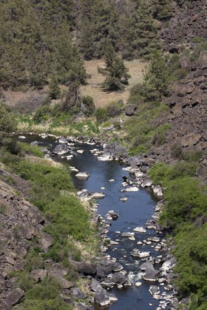 Crooked River Gorge High Brigde Viewpoint, Highway 97 Oregon.
