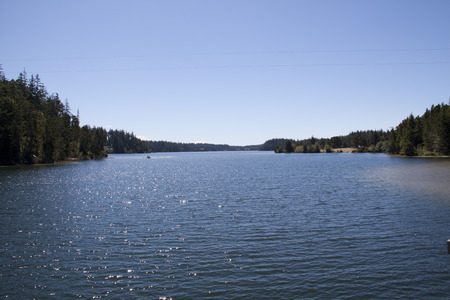East Woahink Lake.      Stock Photo