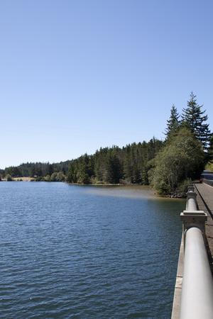 East Woahink Lake.      Stock Photo
