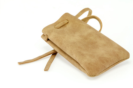 Suede leather bag with Flat rope