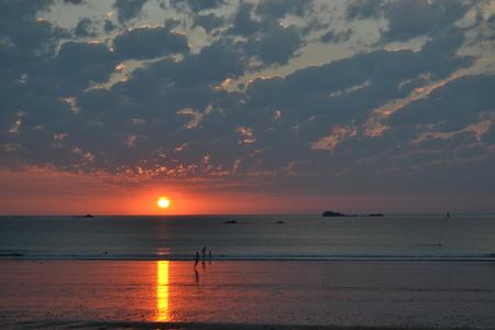 saint: Saint Malo Sunset Stock Photo