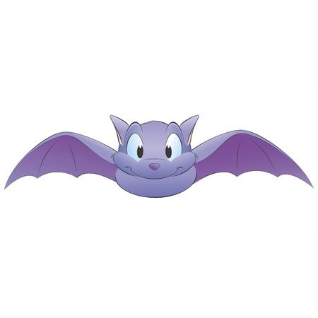 Illustrazione vettoriale di un pipistrello sveglio del fumetto. Raggruppati per un facile editing Archivio Fotografico - 12485071