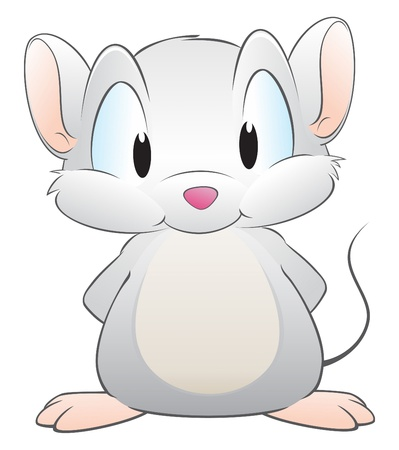 Vector illustration of a cute cartoon mouse. Grouped and layered for easy editing Illustration
