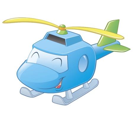 벡터 만화 헬기 계층의 그림 및 쉬운 편집을위한 그룹화