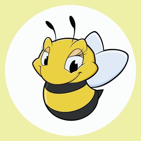 만화 꿀벌의 벡터 일러스트 레이 션 일러스트