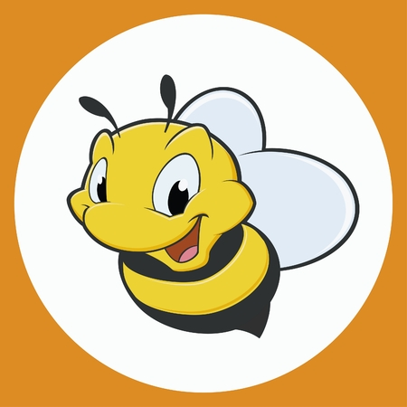 Vector illustration of cartoon bee