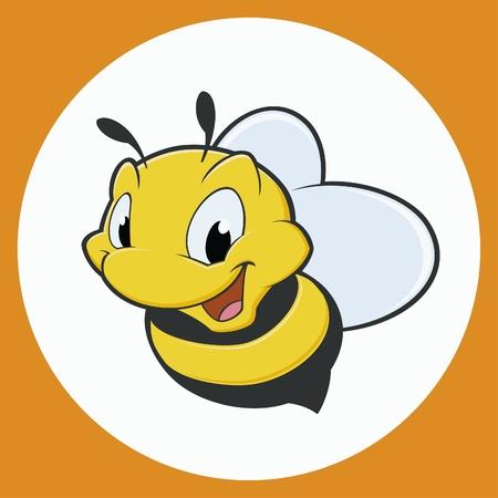 Vector illustration of cartoon bee Banco de Imagens - 23718111
