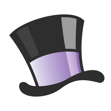 Vector illustration of a magician hat