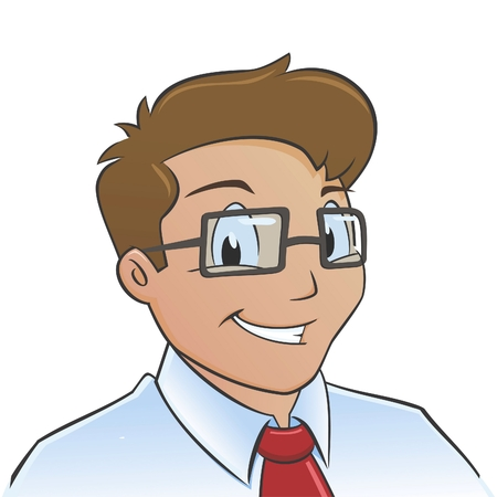 Vector illustration of a smiling young office worker Illustration