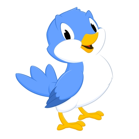 Cartoon bird. Isolated object for design element