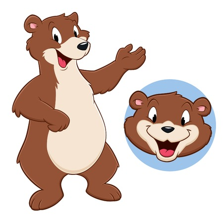 Vector illustration of a funny bear for design element