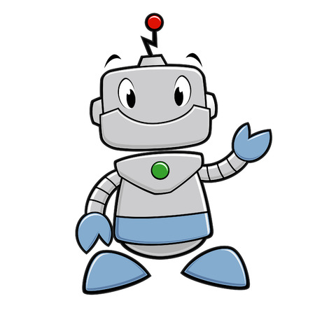Vector illustration of a smiling funny robot Vector