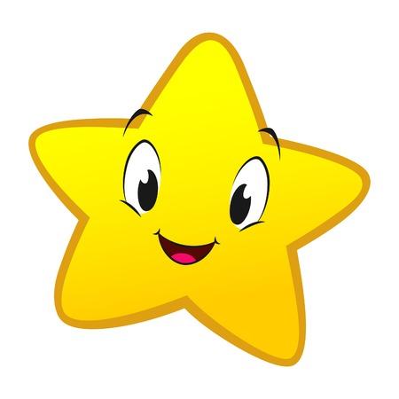 estrella caricatura: Ilustración del vector de la estrella de la historieta para el elemento de diseño