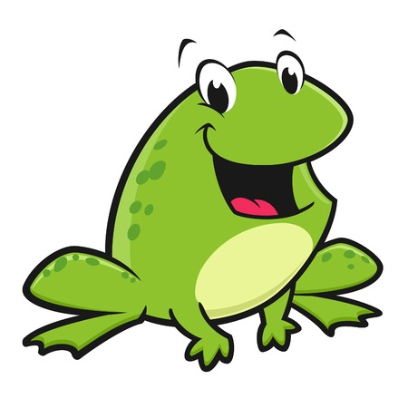 Vector illustration of a funny frog for design element