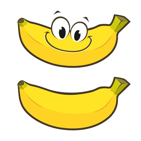 Vector illustration of smiling cartoon banana