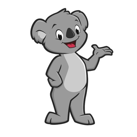 Vector illustratie van een leuke glimlachende koala