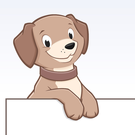 Cute cartoon dog for frame border element Ilustração
