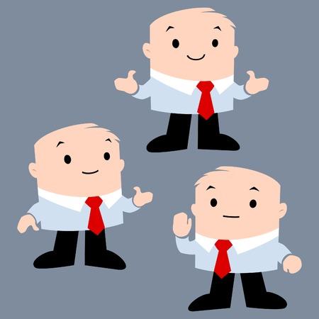 Cartoon vector illustration of businessman for presentation design element