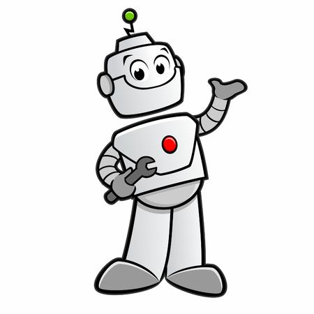 Vector illustration of cartoon robot for design element
