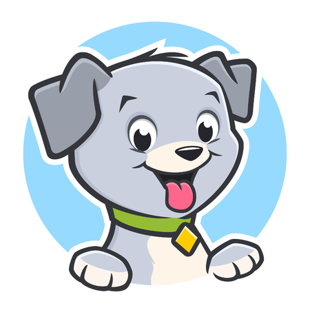 Vector illustration of a cute puppy for design element