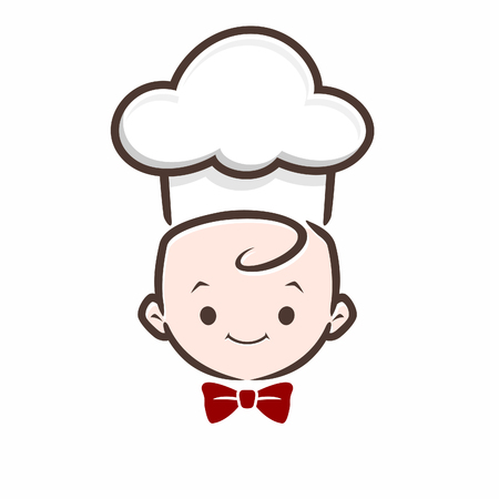 Cartoon vector baby chef icon for design element