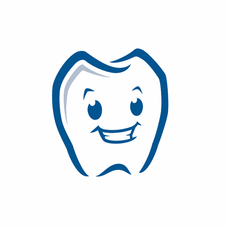 A Vector illustration of cartoon tooth icon for design element Ilustração