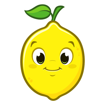 Vector illustration of cute cartoon lemon for design element Archivio Fotografico - 112549195