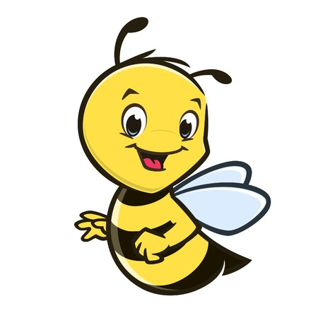Vector illustration of a cute baby bee for design element Banco de Imagens - 126584905
