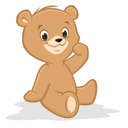 Vector illustration of a cute teddy bear for design element Banco de Imagens - 125686354