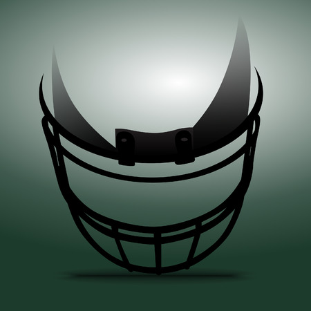 sports helmet: American Football Helmet Illustration