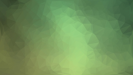 Green and yellow abstract polygon triangle background Vector