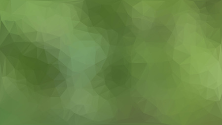Green abstract polygon triangle background Vector