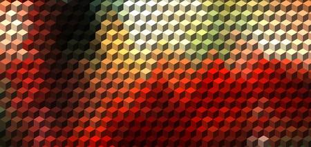 red cube: Cubo astratto sfondo rosso geometrica