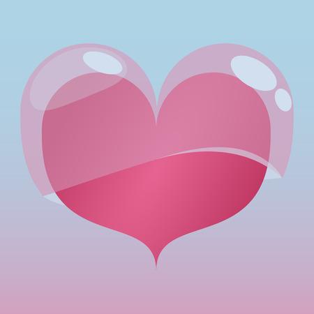 heart tone: Coraz�n con la cubierta de la jalea en tono rosa