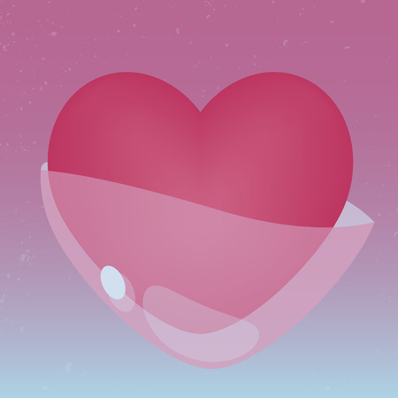 heart tone: Heart with jelly cover in pink tone Illustration