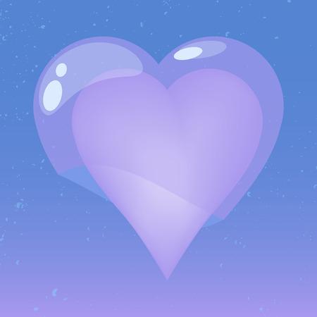 heart tone: Coraz�n con la cubierta de la jalea en tono azul