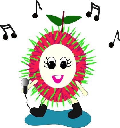 Rambutan cartoon sing
