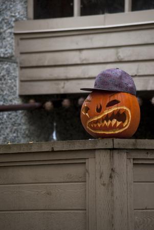 Naughty halloween pumpkin