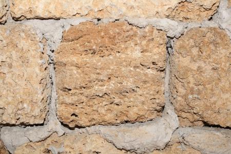 coquina: Wall from coquina Stock Photo