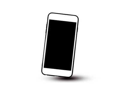 Mobile phone or Smart phone on white background